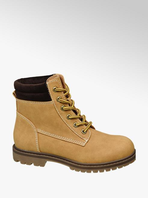 Graceland Junior Girl Beige Lace-up Ankle Boots