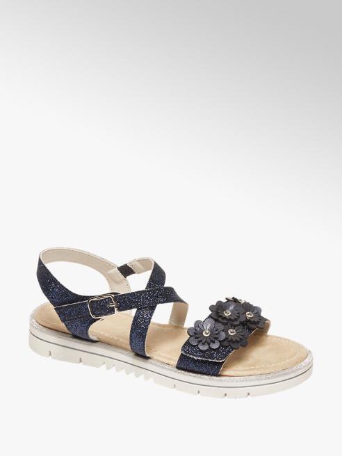 Graceland Blauwe sandaal glitters