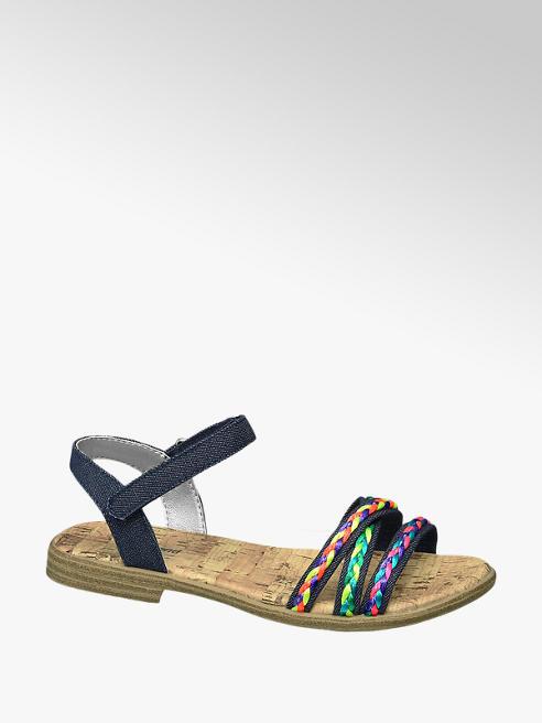 Graceland Blauwe sandaal sierbandjes
