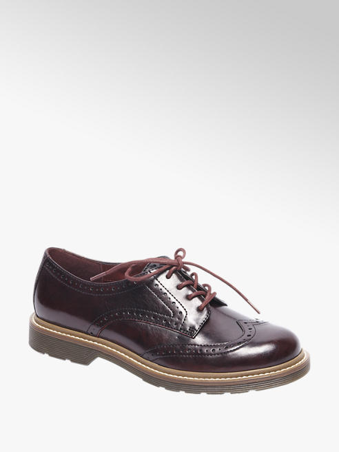 Graceland Bordeaux veterschoen brogue look