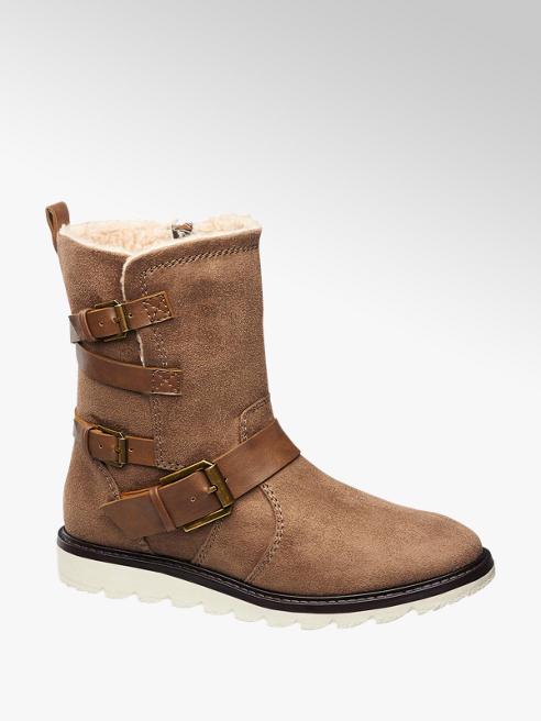 Graceland Bruine boot sportieve zool