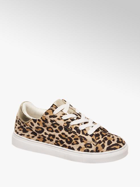 Graceland Bruine sneaker leopard