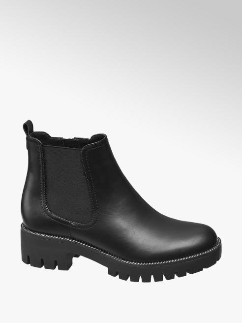 Graceland Black Chunky Chelsea Boots