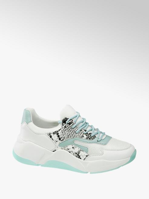 Graceland Chunky Sneaker in Weiß mit Animal-Print