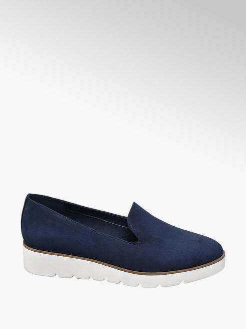 Graceland Donkerblauwe loafer sportieve zool