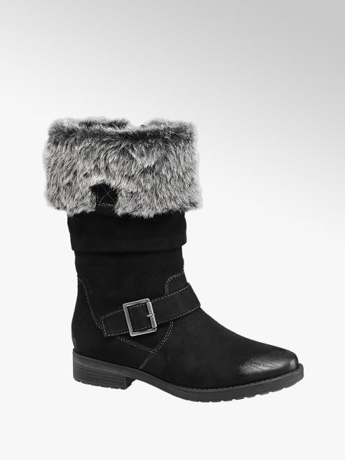 Graceland Gefütterte Stiefel in Schwarz