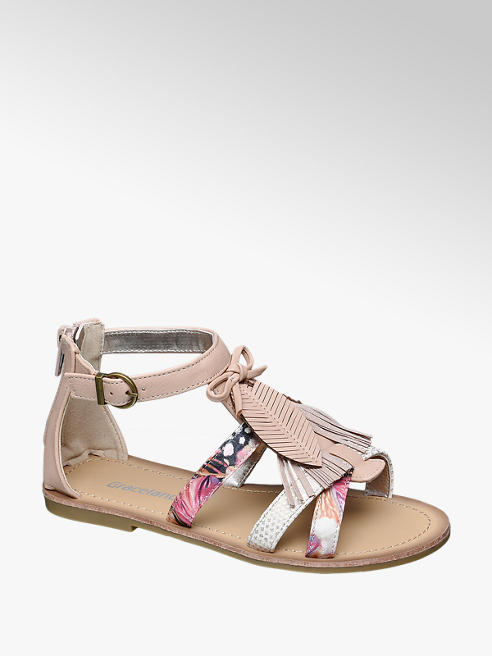 Graceland Feather & Tassel Sandal