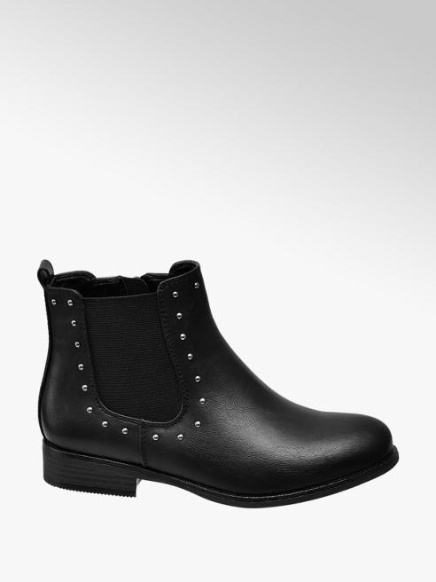 Graceland Teen Girl Black Stud Detail Chelsea Boots