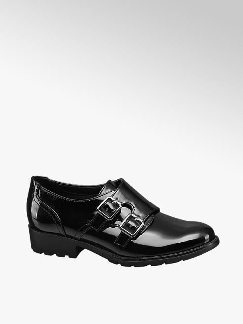 Graceland Junior Girl Twin Buckle Patent Monk Shoe