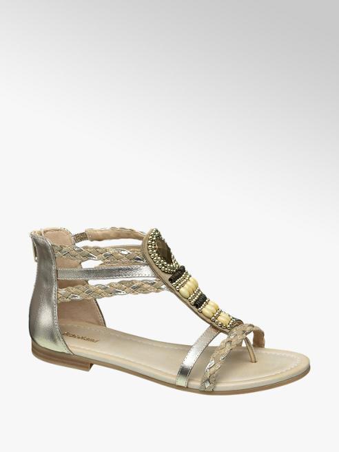 Graceland Gouden sandaal gevlochten