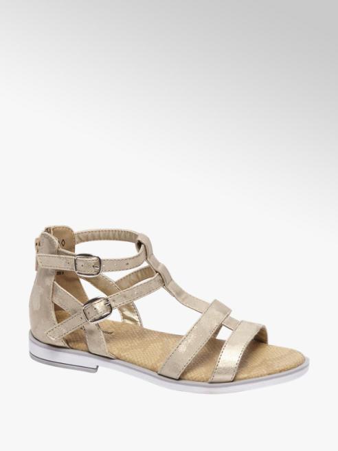 Graceland Gouden sandaal metallic look