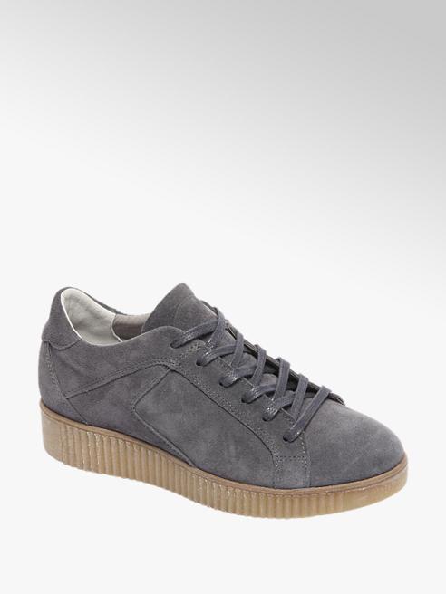 Graceland Grijze sneaker suède
