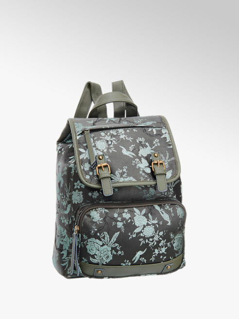 Graceland Groene rugzak bloemenprint