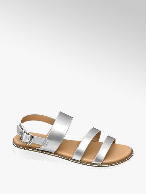 95e38716b05 Graceland Junior Girl Silver Chunky White Sole Sandals