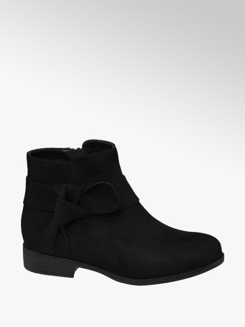 Graceland Junior Girl Black Knot Detail Ankle Boots