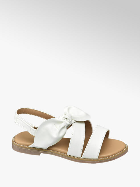 Graceland Junior Girl White Knot Detail Sandals