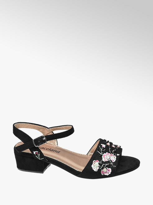 Graceland Junior Girl Sequin & Embroidered Party Shoes