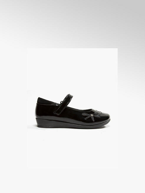 Graceland Junior Girl Black Dragonfly Bar Shoes