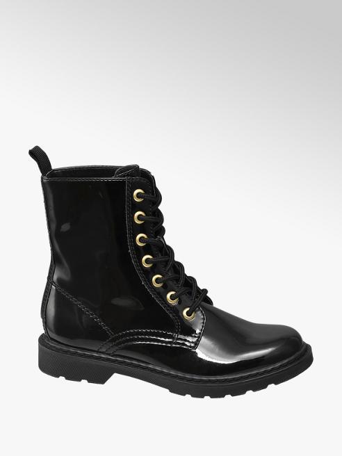 Graceland Junior Girl Black Lace-up Ankle Boots