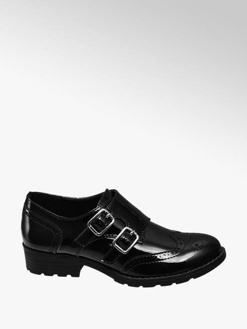 Graceland Junior Girls Patent Monk Shoes