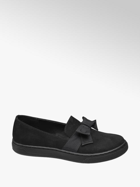Graceland Junior Girls Black Casual Bow Detail Slip On Shoes