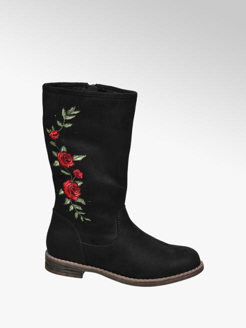 Graceland Junior Girl Embroidered High Leg Boots