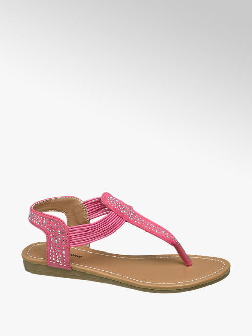 Graceland Junior Girl Gem Toe Post Sandals