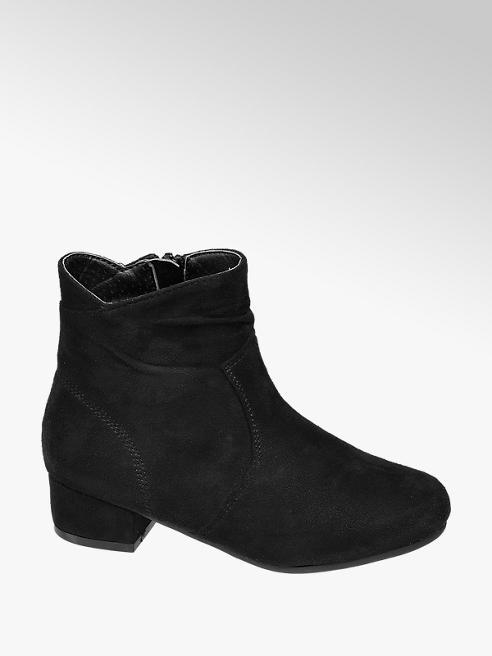 Graceland Junior Girls Black Heeled Ankle Boots