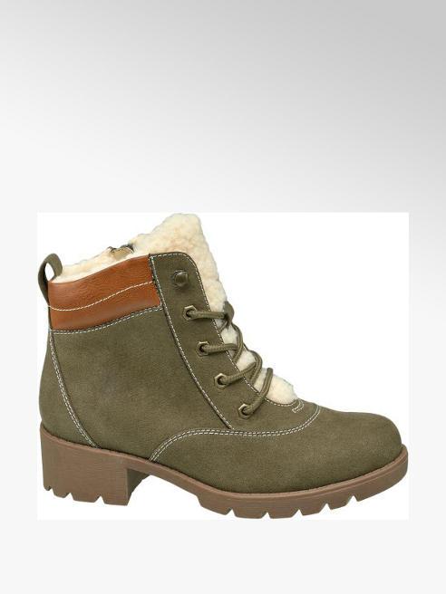 Junior Girl Khaki Chunky Ankle Boots