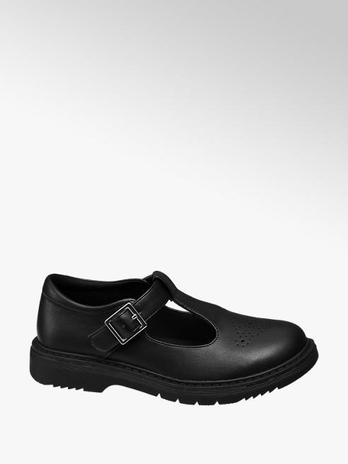 Graceland Junior Girl Black T-Bar School Shoes