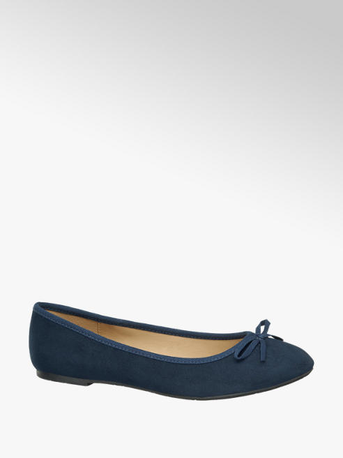 Graceland Ladies Blue Ballerina Flat Shoes