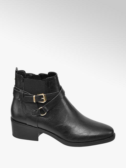 Graceland Black Buckle Chelsea Boots