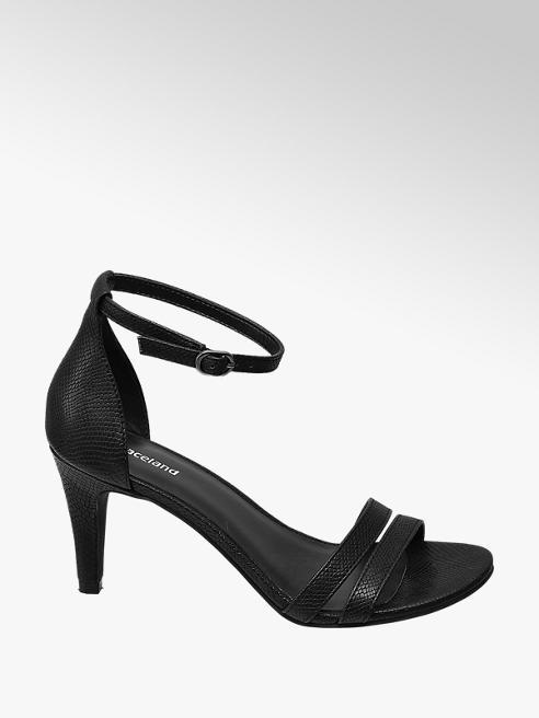 Graceland Black Croc High Heels