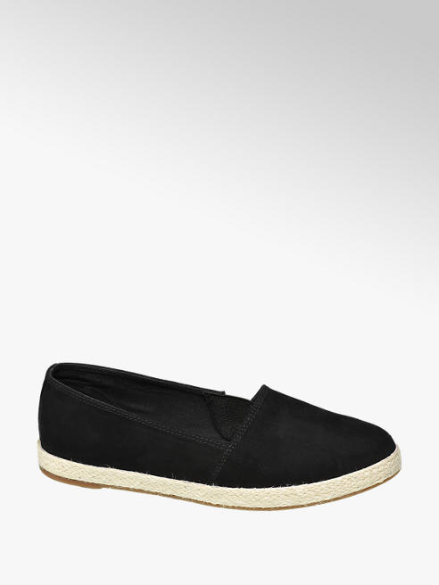 Graceland Ladies Black Imi-suede Espadrilles