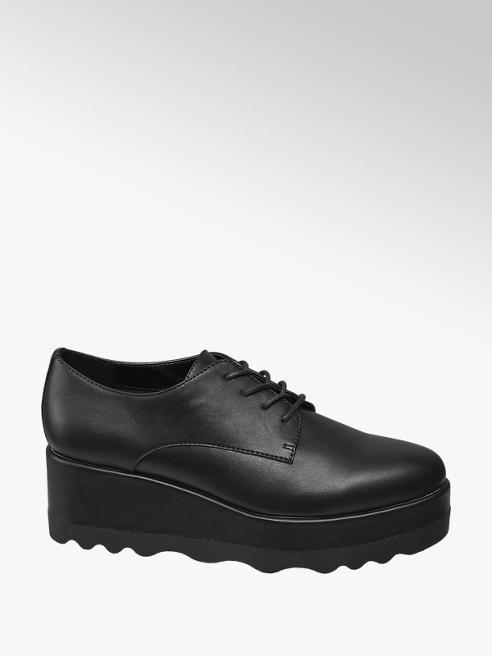 Graceland Black Platform Lace-up Shoes