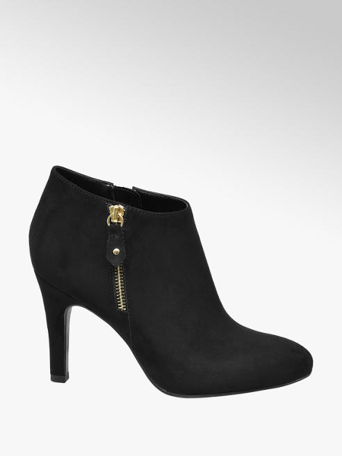 Graceland Black Stiletto Heeled Ankle Boots