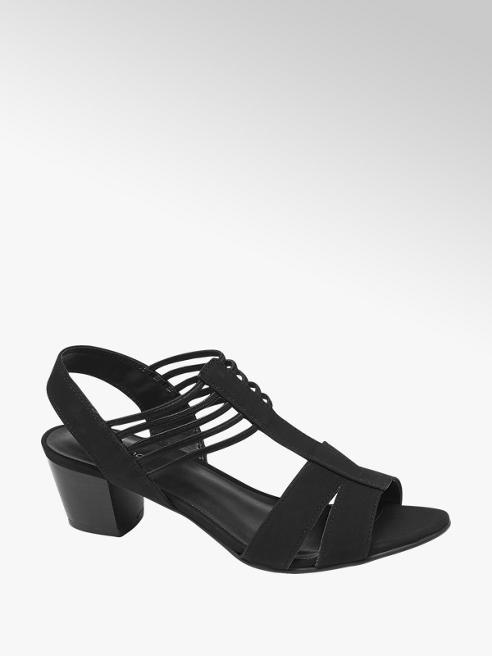 Graceland Black Strappy Heeled Sandals