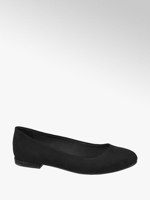 Graceland Black Stud Detail Ballerinas