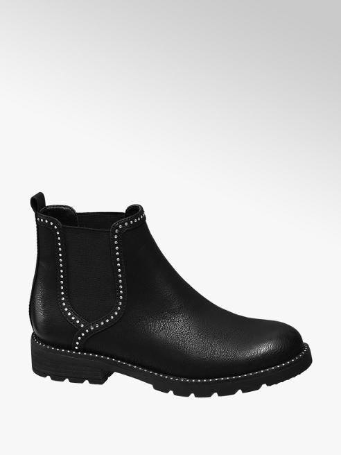 Graceland Black Studded Chelsea Boots