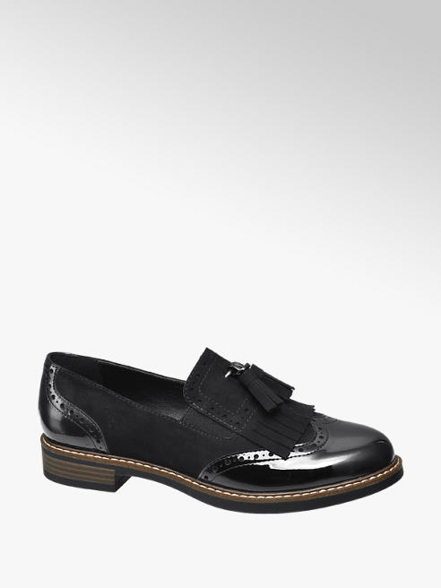 Graceland Black Patent Tassel Loafers