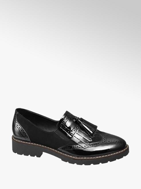 Graceland Black Patent Tassle Loafers