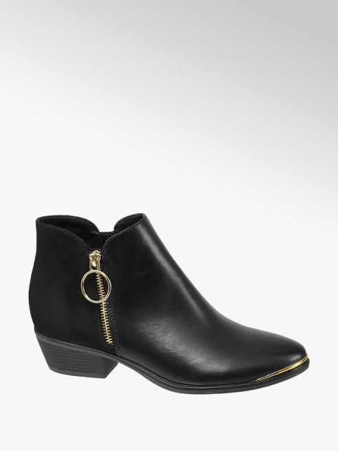 Graceland Black Zip Detail Chelsea Boots
