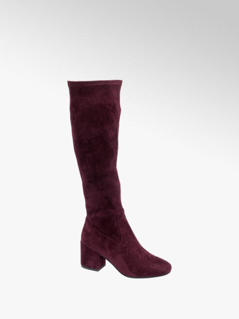 Graceland Bordo Over The Knee Boots