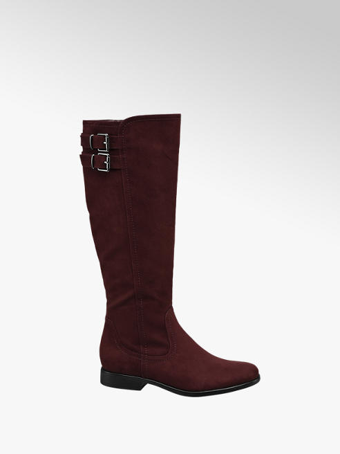 Graceland Burgundy Long Leg Boots