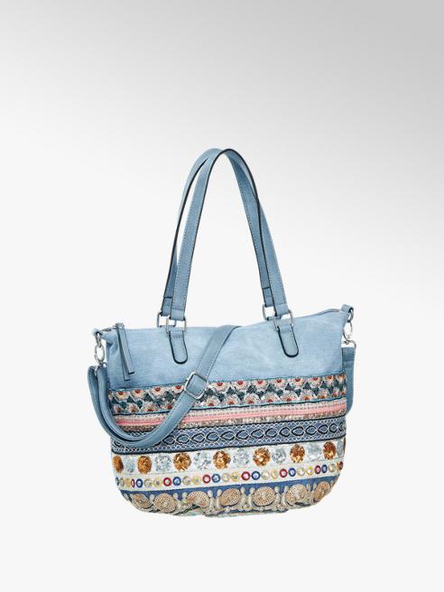 Graceland Blue Canvas Shoulder Bag
