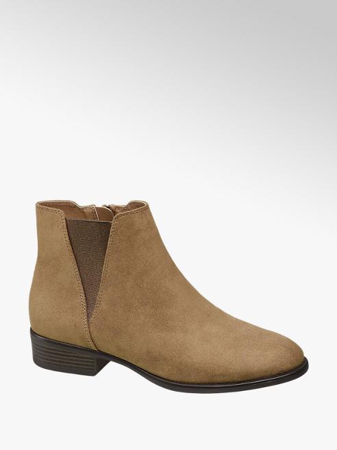 Graceland Beige Zip-up Chelsea Boots