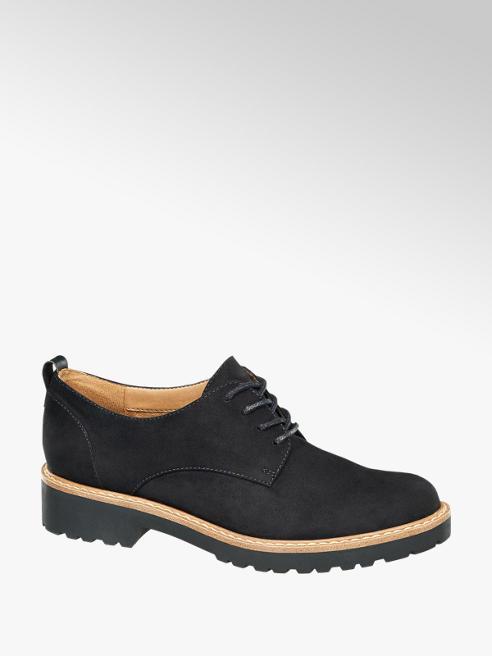 Graceland Black Chunky Lace-up Shoes