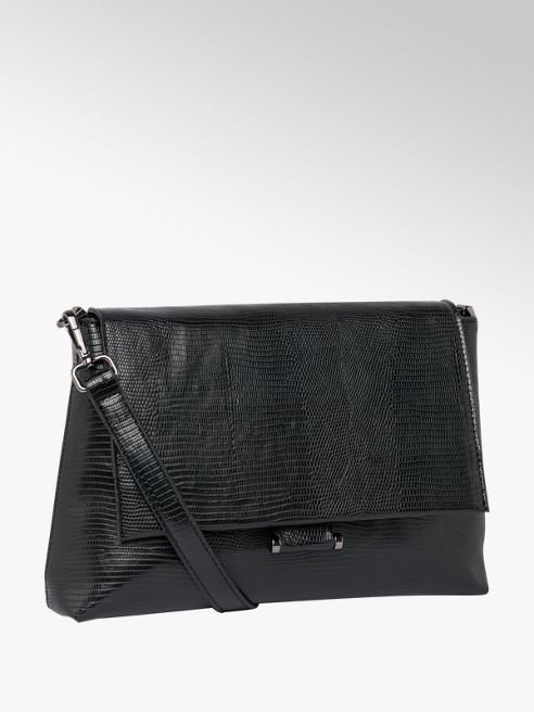 Graceland Black Croc Cross body Bag