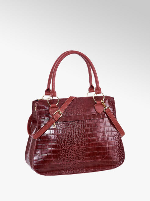 Graceland Red Croc Tote Bag