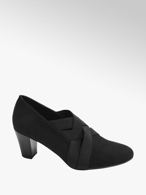 Graceland Black Elasticated Heels